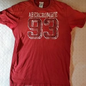 Men's Abercrombie and Fitch distressed logo tee
